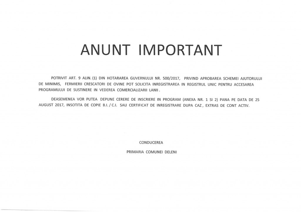 anunt lana